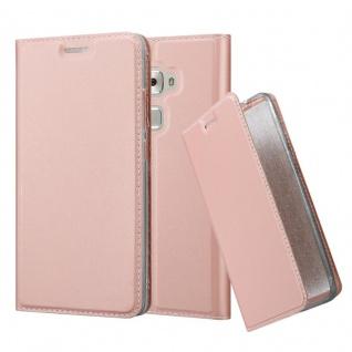 Cadorabo Hülle für Huawei MATE S in CLASSY ROSÉ GOLD - Handyhülle mit Magnetverschluss, Standfunktion und Kartenfach - Case Cover Schutzhülle Etui Tasche Book Klapp Style