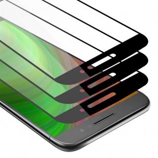 Cadorabo 3x Vollbild Panzer Folie für Motorola MOTO M - Schutzfolie in TRANSPARENT mit SCHWARZ - 3er Pack Gehärtetes (Tempered) Display-Schutzglas in 9H Härte mit 3D Touch
