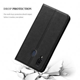 Cadorabo Hülle für Samsung Galaxy M20 in NACHT SCHWARZ - Handyhülle mit Magnetverschluss, Standfunktion und Kartenfach - Case Cover Schutzhülle Etui Tasche Book Klapp Style - Vorschau 5