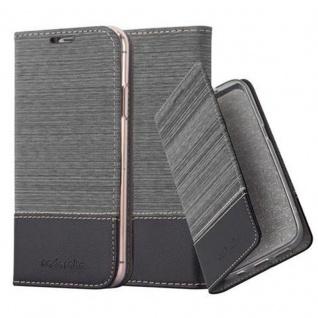 Cadorabo Hülle für Apple iPhone X / XS in GRAU SCHWARZ - Handyhülle mit Magnetverschluss, Standfunktion und Kartenfach - Case Cover Schutzhülle Etui Tasche Book Klapp Style