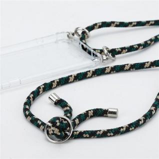 Cadorabo Handy Kette für Huawei MATE 30 in CAMOUFLAGE Silikon Necklace Umhänge Hülle mit Silber Ringen, Kordel Band Schnur und abnehmbarem Etui Schutzhülle - Vorschau 2