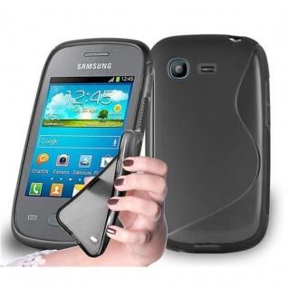 Cadorabo Hülle für Samsung Galaxy POCKET in OXID SCHWARZ ? Handyhülle aus flexiblem TPU Silikon ? Silikonhülle Schutzhülle Ultra Slim Soft Back Cover Case Bumper