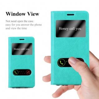 Cadorabo Hülle für Huawei P10 PLUS in MINT TÜRKIS ? Handyhülle mit Magnetverschluss, Standfunktion und 2 Sichtfenstern ? Case Cover Schutzhülle Etui Tasche Book Klapp Style - Vorschau 2