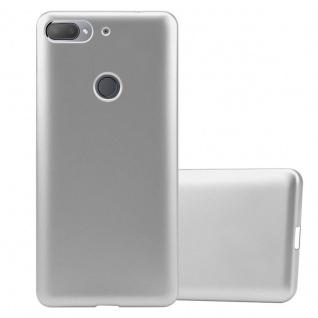 Cadorabo Hülle für HTC Desire 12 PLUS in METALLIC SILBER - Handyhülle aus flexiblem TPU Silikon - Silikonhülle Schutzhülle Ultra Slim Soft Back Cover Case Bumper