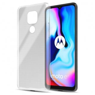 Cadorabo Hülle kompatibel mit Motorola Moto E7 Plus in VOLL TRANSPARENT Handyhülle aus flexiblem TPU Silikon Silikonhülle Schutzhülle Ultra Slim Soft Back Cover Case Bumper