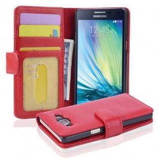 Cadorabo Hülle für Samsung Galaxy A5 2015 in INFERNO ROT - Handyhülle mit Magnetverschluss und 3 Kartenfächern - Case Cover Schutzhülle Etui Tasche Book Klapp Style