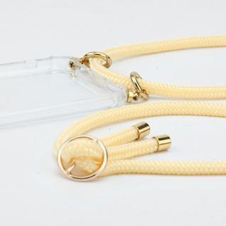 Cadorabo Handy Kette für Nokia 4.2 in CREME BEIGE Silikon Necklace Umhänge Hülle mit Gold Ringen, Kordel Band Schnur und abnehmbarem Etui Schutzhülle - Vorschau 3