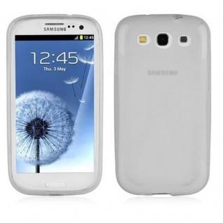 Cadorabo Hülle für Samsung Galaxy S3 / S3 NEO in HALB TRANSPARENT ? Handyhülle aus flexiblem TPU Silikon ? Silikonhülle Schutzhülle Ultra Slim Soft Back Cover Case Bumper