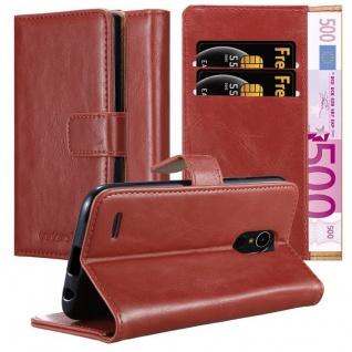 Cadorabo Hülle für LG K10 2017 in WEIN ROT Handyhülle mit Magnetverschluss, Standfunktion und Kartenfach Case Cover Schutzhülle Etui Tasche Book Klapp Style