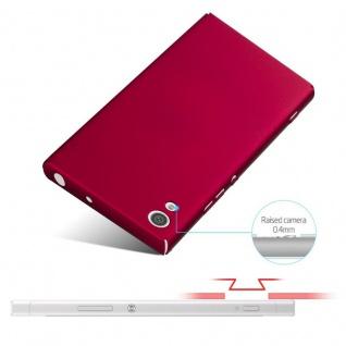 Cadorabo Hülle für Sony Xperia XA1 in METALL ROT - Hardcase Handyhülle aus Plastik gegen Kratzer und Stöße - Schutzhülle Bumper Ultra Slim Back Case Hard Cover - Vorschau 4