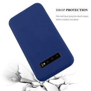 Cadorabo Hülle für Samsung Galaxy S10 PLUS in CANDY DUNKEL BLAU - Handyhülle aus flexiblem TPU Silikon - Silikonhülle Schutzhülle Ultra Slim Soft Back Cover Case Bumper - Vorschau 5
