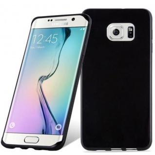 Cadorabo Hülle für Samsung Galaxy S6 EDGE PLUS - Hülle in SCHWARZ ? Handyhülle aus TPU Silikon im Ultra Slim 'AIR' Design - Ultra Slim Soft Backcover Case Bumper