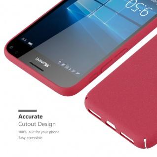 Cadorabo Hülle für Nokia Lumia 950 XL in FROSTY ROT - Hardcase Handyhülle aus Plastik gegen Kratzer und Stöße - Schutzhülle Bumper Ultra Slim Back Case Hard Cover - Vorschau 5