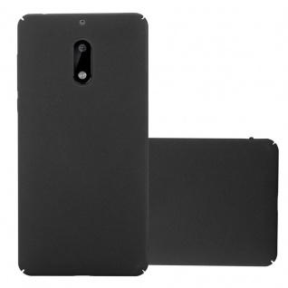 Cadorabo Hülle für Nokia 6 2017 in FROSTY SCHWARZ Hardcase Handyhülle aus Plastik gegen Kratzer und Stöße Schutzhülle Bumper Ultra Slim Back Case Hard Cover