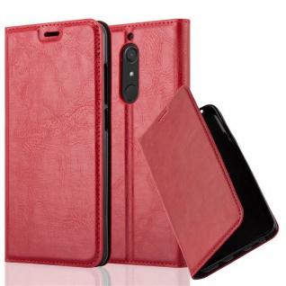 Cadorabo Hülle für WIKO VIEW XL in APFEL ROT Handyhülle mit Magnetverschluss, Standfunktion und Kartenfach Case Cover Schutzhülle Etui Tasche Book Klapp Style