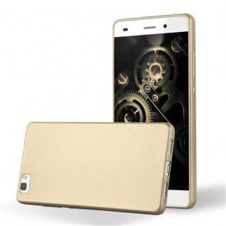 Cadorabo Hülle für Huawei P8 LITE 2015 in METALLIC GOLD - Handyhülle aus flexiblem TPU Silikon - Silikonhülle Schutzhülle Ultra Slim Soft Back Cover Case Bumper