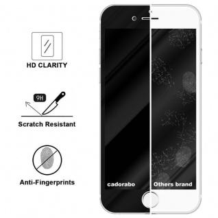 Cadorabo Vollbild Panzer Folie für Apple iPhone 8 PLUS / 7 PLUS / 7S PLUS - Schutzfolie in TRANSPARENT mit SCHWARZ - Gehärtetes (Tempered) Display-Schutzglas in 9H Härte mit 3D Touch Kompatibilität - Vorschau 3