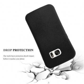 Cadorabo Hülle für Samsung Galaxy S7 - Hülle in MINERAL SCHWARZ ? Small Waist Handyhülle mit rutschfestem Gummi-Rücken - Hard Case TPU Silikon Schutzhülle - Vorschau 2