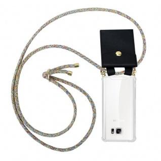 Cadorabo Handy Kette für Samsung Galaxy NOTE 5 in RAINBOW - Silikon Necklace Umhänge Hülle mit Gold Ringen, Kordel Band Schnur und abnehmbarem Etui ? Schutzhülle