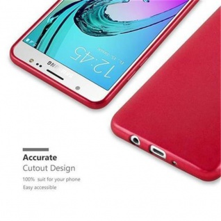 Cadorabo Hülle für Samsung Galaxy J7 2016 in METALLIC ROT - Handyhülle aus flexiblem TPU Silikon - Silikonhülle Schutzhülle Ultra Slim Soft Back Cover Case Bumper - Vorschau 2