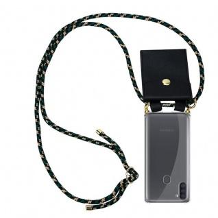 Cadorabo Handy Kette für Samsung Galaxy A11 in CAMOUFLAGE Silikon Necklace Umhänge Hülle mit Gold Ringen, Kordel Band Schnur und abnehmbarem Etui Schutzhülle