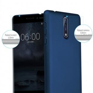 Cadorabo Hülle für Nokia 8 2017 in METALL BLAU ? Hardcase Handyhülle aus Plastik gegen Kratzer und Stöße ? Schutzhülle Bumper Ultra Slim Back Case Hard Cover - Vorschau 2
