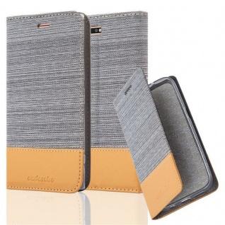 Cadorabo Hülle für Sony Xperia XZ PREMIUM in HELL GRAU BRAUN - Handyhülle mit Magnetverschluss, Standfunktion und Kartenfach - Case Cover Schutzhülle Etui Tasche Book Klapp Style