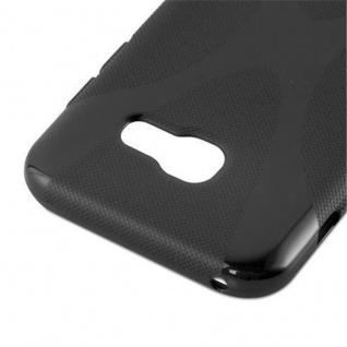 Cadorabo Hülle für Samsung Galaxy A3 2017 in OXID SCHWARZ - Handyhülle aus flexiblem TPU Silikon - Silikonhülle Schutzhülle Ultra Slim Soft Back Cover Case Bumper - Vorschau 3