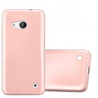Cadorabo Hülle für Nokia Lumia 550 in METALLIC ROSÉ GOLD - Handyhülle aus flexiblem TPU Silikon - Silikonhülle Schutzhülle Ultra Slim Soft Back Cover Case Bumper