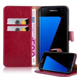 Cadorabo Hülle für Samsung Galaxy S7 EDGE in WEIN ROT ? Handyhülle mit Magnetverschluss, Standfunktion und Kartenfach ? Case Cover Schutzhülle Etui Tasche Book Klapp Style