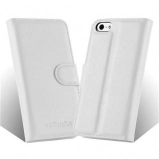 Cadorabo Hülle für Apple iPhone 5 / iPhone 5S / iPhone SE in ARKTIS WEIß - Handyhülle mit Magnetverschluss, Standfunktion und Kartenfach - Case Cover Schutzhülle Etui Tasche Book Klapp Style - Vorschau 4