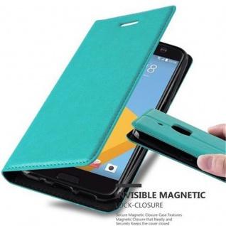 Cadorabo Hülle für HTC 10 (One M10) in PETROL TÜRKIS - Handyhülle mit Magnetverschluss, Standfunktion und Kartenfach - Case Cover Schutzhülle Etui Tasche Book Klapp Style