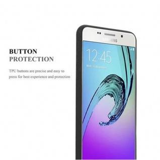 Cadorabo Hülle für Samsung Galaxy A3 2016 in FROST SCHWARZ - Handyhülle aus flexiblem TPU Silikon - Silikonhülle Schutzhülle Ultra Slim Soft Back Cover Case Bumper - Vorschau 5
