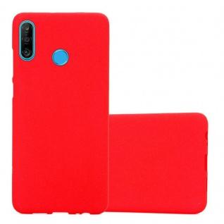 Cadorabo Hülle für Huawei P30 LITE in FROST ROT - Handyhülle aus flexiblem TPU Silikon - Silikonhülle Schutzhülle Ultra Slim Soft Back Cover Case Bumper