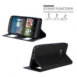 Cadorabo Hülle für HTC One M9 in KOMETEN SCHWARZ ? Handyhülle mit Magnetverschluss, Standfunktion und 2 Sichtfenstern ? Case Cover Schutzhülle Etui Tasche Book Klapp Style - Vorschau 4