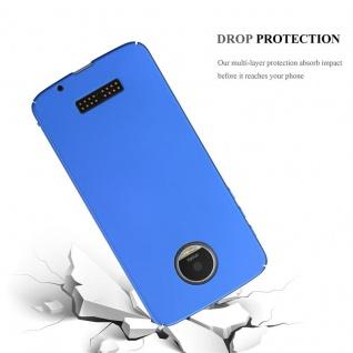 Cadorabo Hülle für Motorola MOTO Z in METALL BLAU ? Hardcase Handyhülle aus Plastik gegen Kratzer und Stöße ? Schutzhülle Bumper Ultra Slim Back Case Hard Cover - Vorschau 3