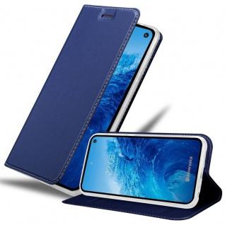 Cadorabo Hülle für Samsung Galaxy S10e in CLASSY DUNKEL BLAU - Handyhülle mit Magnetverschluss, Standfunktion und Kartenfach - Case Cover Schutzhülle Etui Tasche Book Klapp Style