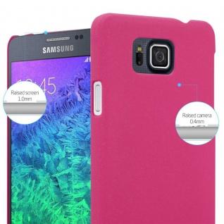 Cadorabo Hülle für Samsung Galaxy ALPHA in FROSTY PINK - Hardcase Handyhülle aus Plastik gegen Kratzer und Stöße - Schutzhülle Bumper Ultra Slim Back Case Hard Cover - Vorschau 4
