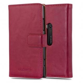 Cadorabo Hülle für Nokia Lumia 920 in WEIN ROT - Handyhülle mit Magnetverschluss, Standfunktion und Kartenfach - Case Cover Schutzhülle Etui Tasche Book Klapp Style