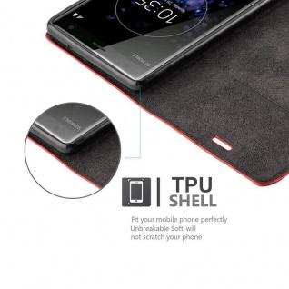 Cadorabo Hülle für Sony Xperia XZ2 in APFEL ROT Handyhülle mit Magnetverschluss, Standfunktion und Kartenfach Case Cover Schutzhülle Etui Tasche Book Klapp Style - Vorschau 2