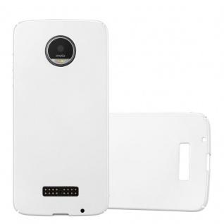 Cadorabo Hülle für Motorola MOTO Z in METALL SILBER - Hardcase Handyhülle aus Plastik gegen Kratzer und Stöße - Schutzhülle Bumper Ultra Slim Back Case Hard Cover