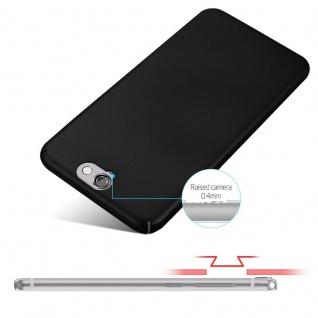 Cadorabo Hülle für HTC One A9 in METALL SCHWARZ - Hardcase Handyhülle aus Plastik gegen Kratzer und Stöße - Schutzhülle Bumper Ultra Slim Back Case Hard Cover - Vorschau 4