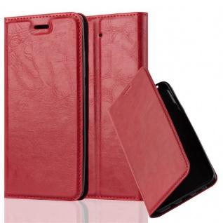 Cadorabo Hülle für Xiaomi Mi 5S in APFEL ROT Handyhülle mit Magnetverschluss, Standfunktion und Kartenfach Case Cover Schutzhülle Etui Tasche Book Klapp Style