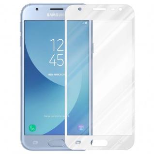 Cadorabo Vollbild Panzer Folie für Samsung Galaxy J3 PRO - Schutzfolie in TRANSPARENT mit WEISS - Gehärtetes (Tempered) Display-Schutzglas in 9H Härte mit 3D Touch Kompatibilität - Vorschau 2