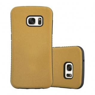 Cadorabo Hülle für Samsung Galaxy S7 - Hülle in GOLD BRAUN - Small Waist Handyhülle mit rutschfestem Gummi-Rücken - Hard Case TPU Silikon Schutzhülle
