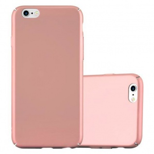 Cadorabo Hülle für Apple iPhone 6 / iPhone 6S in METALL ROSE GOLD - Hardcase Handyhülle aus Plastik gegen Kratzer und Stöße - Schutzhülle Bumper Ultra Slim Back Case Hard Cover