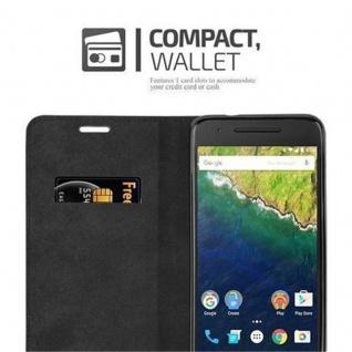Cadorabo Hülle für Huawei NEXUS 6P in APFEL ROT Handyhülle mit Magnetverschluss, Standfunktion und Kartenfach Case Cover Schutzhülle Etui Tasche Book Klapp Style - Vorschau 5