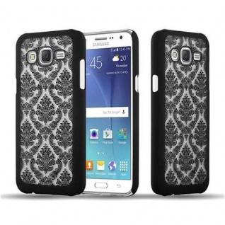 Samsung Galaxy J5 2015 Hardcase Hülle in SCHWARZ von Cadorabo - Blumen Paisley Henna Design Schutzhülle ? Handyhülle Bumper Back Case Cover