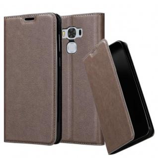 Cadorabo Hülle für Asus ZenFone 3 MAX (5, 5 Zoll) in KAFFEE BRAUN - Handyhülle mit Magnetverschluss, Standfunktion und Kartenfach - Case Cover Schutzhülle Etui Tasche Book Klapp Style
