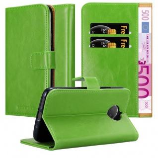 Cadorabo Hülle für Motorola MOTO G5S PLUS in GRAS GRÜN ? Handyhülle mit Magnetverschluss, Standfunktion und Kartenfach ? Case Cover Schutzhülle Etui Tasche Book Klapp Style